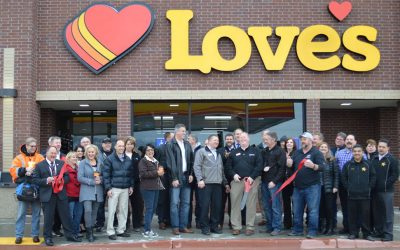 Love's Truck Stop Ribbon Cutting