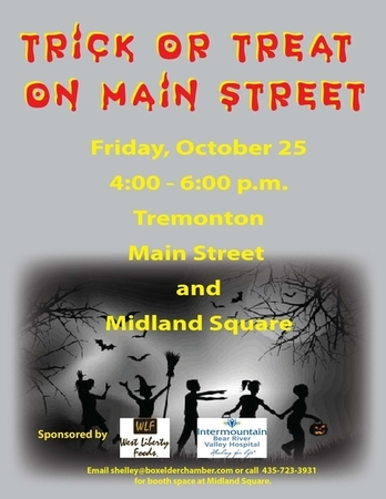 Tremonton Trick or Treat on Main Street, Oct 25, 4-6 pm